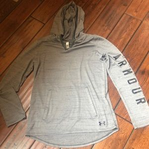 Under Armour thin pullover with hood size youth Lg